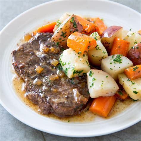 braised root vegetables cooker braised steaks with root vegetables america