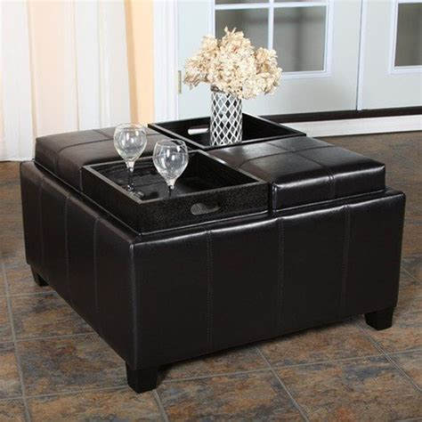 ottoman with tray table coffee table wonderful ottoman coffee table tray best