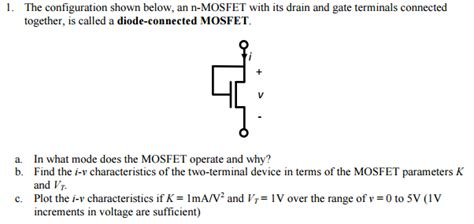 diode connected resistance diode connected mosfet iv characteristic 28 images where does the output characteristic of