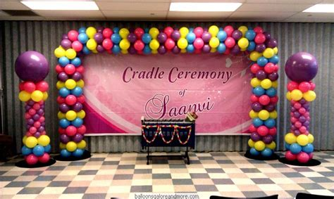 Indian birthday parties and cradle ceremony decorations by balloons galore and more