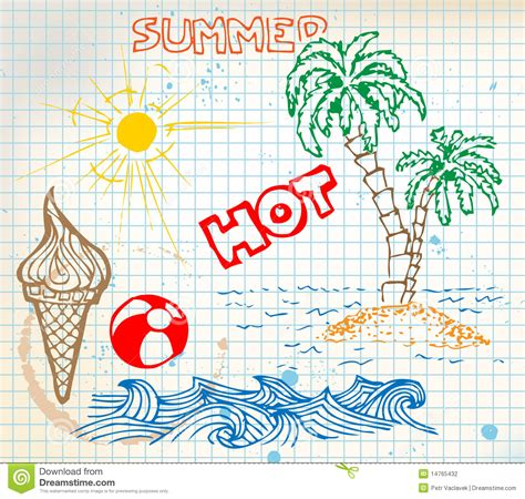 doodle elementos elementos doodle verano fotograf 237 a de archivo