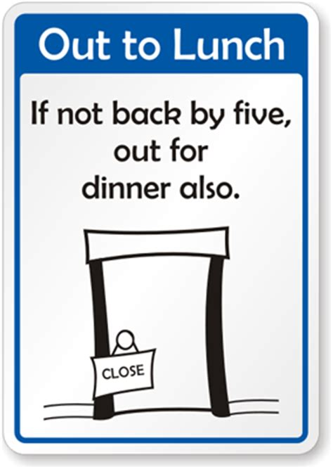 free out to lunch back soon printable sign template free printable