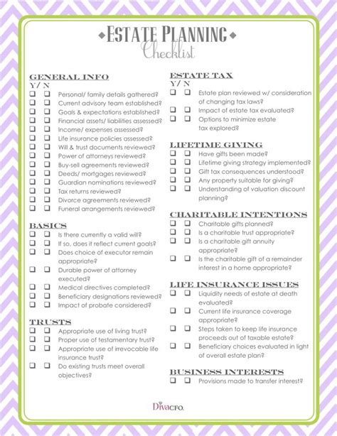 estate planning checklist diy pinterest