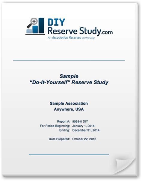 Do It Yourself Reserve Studies The Diy Reserve Study Kit Hoa Reserve Study Excel Template