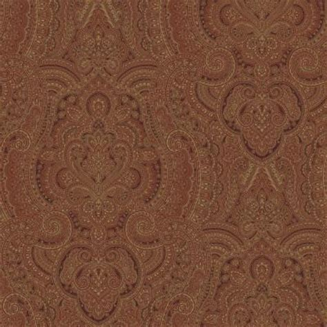 the wallpaper company 56 sq ft metallic damask swirl