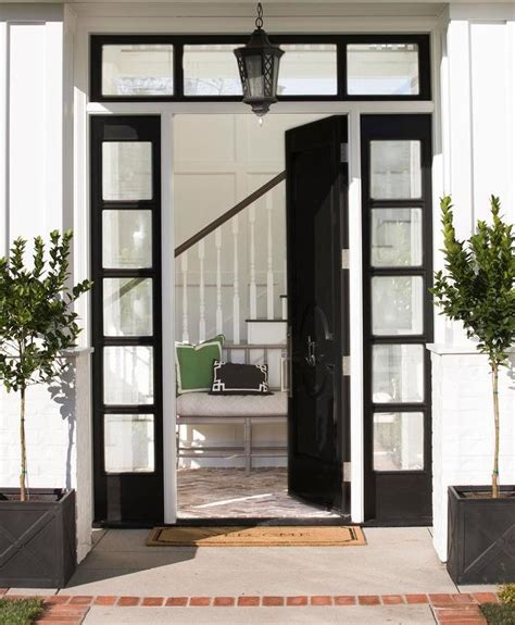 front door with window glossy black front door with black sidelights