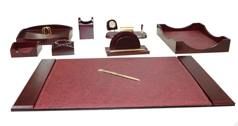 akyazi charisma mahogany desk set set of 9 purchasing