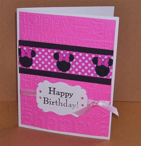 Handmade Minnie Mouse Birthday Cards - 17 best images about card mickey minnie on