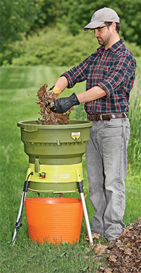 Gardener S Supply Company Leaf Shredder Shred Your Leaves Electric Leaf Shredder Gardener S Supply
