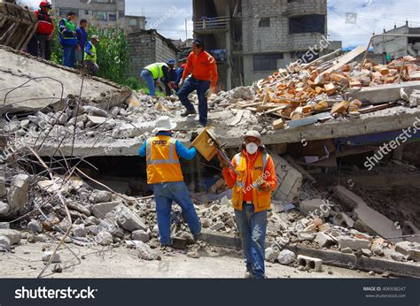 Singers Home Destroyed By Myspace Crashers by Quito Ecuador April17 2016 House Destroyed Stock Photo