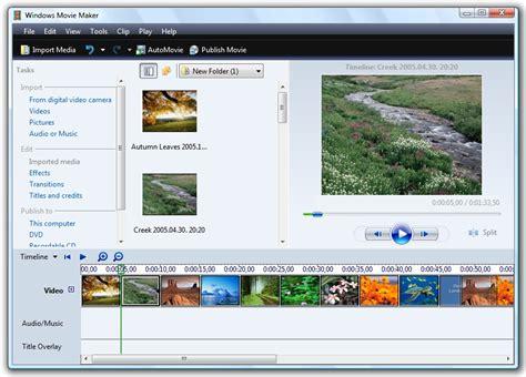 windows movie maker for windows xp full version windows movie maker for 7 or vista freeware download