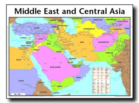 middle east map of asia middle east and central asia map middle east map