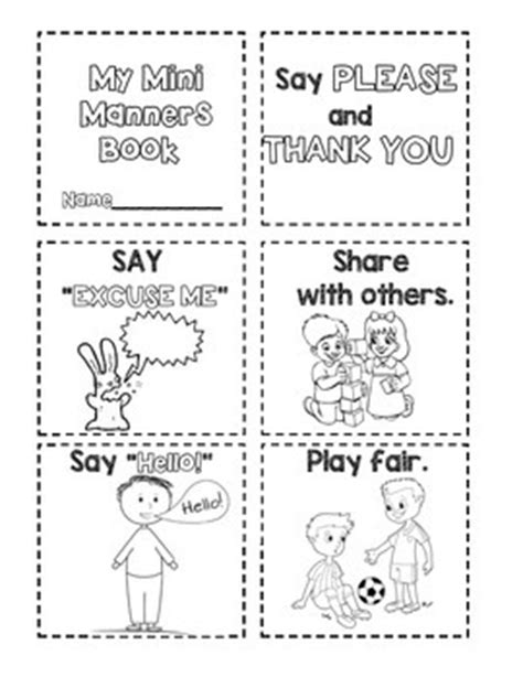 manners coloring pages preschool manners mini manners book manners minis and books