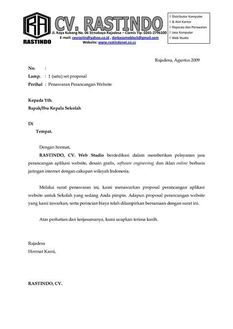 Surat Permintaan Penawaran Jasa by Contoh Surat Penawaran Permintaan Dan Kerja Sama