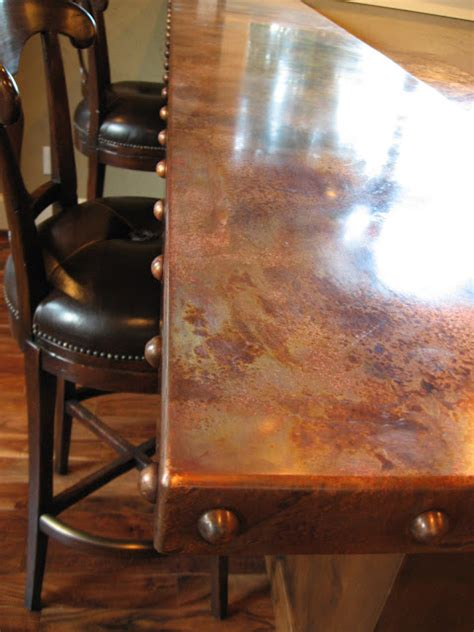 copper bar top heavy metal works copper bar counter top