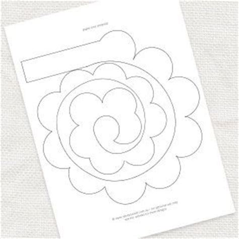 diy flower template paper template free at idoityourself