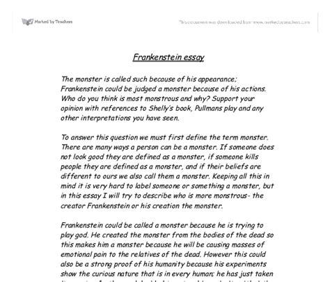 frankenstein research paper topics essay on frankenstein