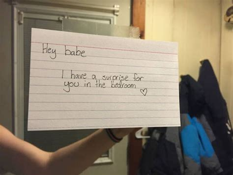 girlfriend sets up special surprise present for her