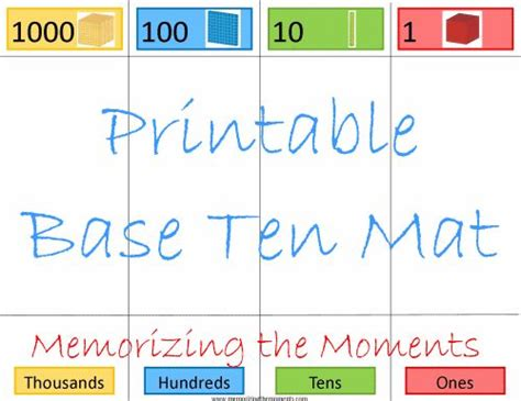 Place Value Cards Template by 19 Best Images About 2013 Preschool Materials On