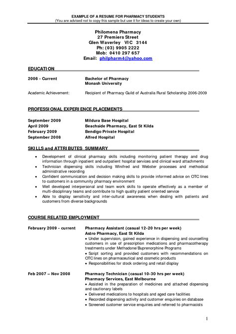 follow these updated pharmacist resume samples free 2017