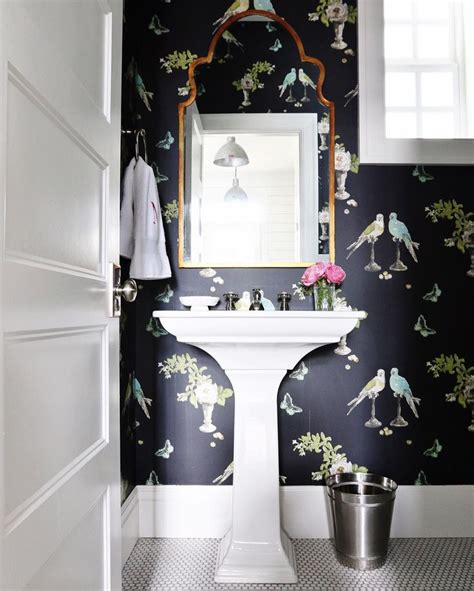 wallpaper in bathroom ideas best 25 small bathroom wallpaper ideas on