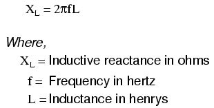 inductive reactance is related to lessons in electric circuits volume v reference chapter 1