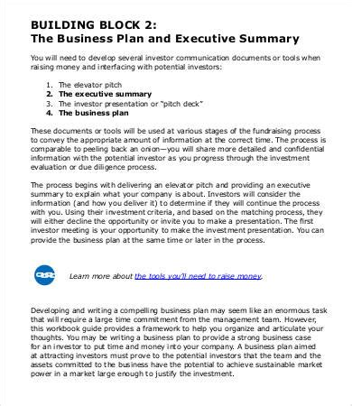 executive summary template for business plan executive summary sle 9 free pdf word documents