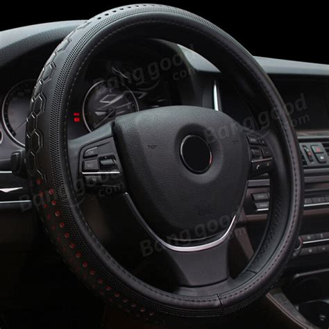 Setir Cover Mobil Universal Steering Wheel Cover Black Other Parts Accessories Universal 38cm Car Leather Car Steering Wheel Cover All Seasons