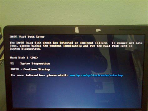 hp com go techcenter startup fan windows 7 smart disk check has detected an imminent