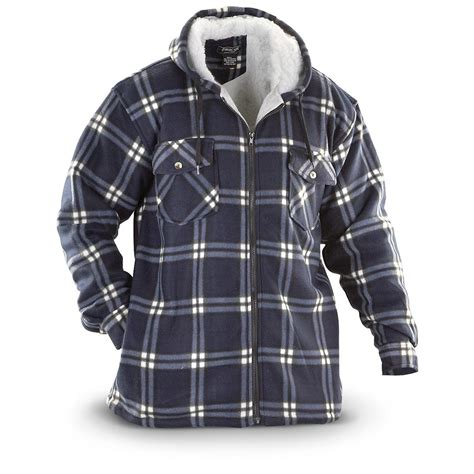 Hooded Plaid Sweatshirt fourcast 174 plaid fleece hooded shirt jacket 235727
