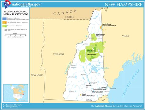 map usa showing new hshire map of new hshire map federal land and indian