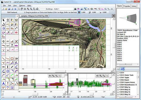screen layout design software sandia software cadrail model railroad layout design