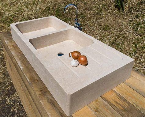 lavabo per cucina lavandino da cucina in travertino due buche con scolapatti