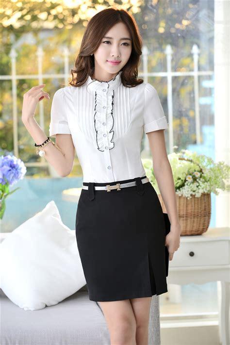 moda de oficina de mujer en pinterest faldas vestidos y blusas manga corta corea buscar con google blusas