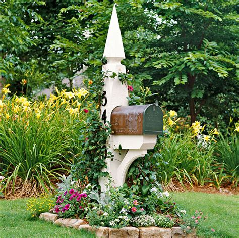 Mailbox Garden Ideas My Curb Appeal Plans Beautiful Mailboxes Mailbox Posts And Mailbox Landscaping