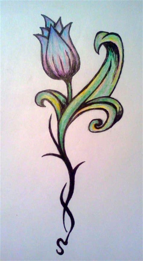 tribal tulip tattoo tribal tulip by chaotic rainbow on deviantart