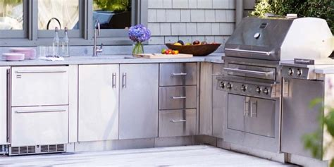 Outdoor Kitchen Stainless Steel Cabinets Stainless Steel Outdoor Kitchen Cabinets Is Best For Your Outdoor Kitchen Furniture