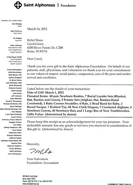 charity tax deduction letter donation acknowledgement letter tax deductible 12 free