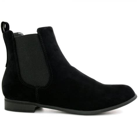 buy flat chelsea ankle boots black suede style