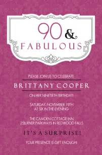 90th birthday invitation wording 365greetings