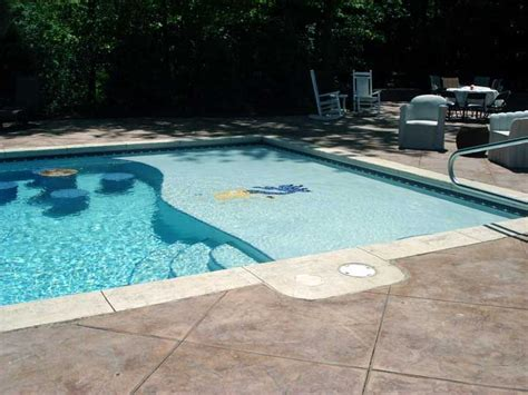 Pool Tanning Chairs Design Ideas Inground Pool With Sundeck And Sunk In Table And Chairs Feels Like Home Table