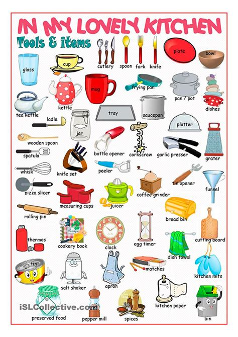 Kitchen Items 10 The Names Of Kitchen Items In Preply