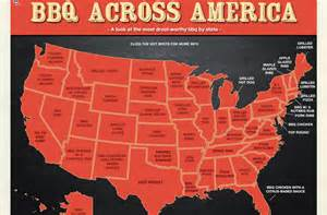 carolina bbq map pork or beef what in your state are putting on