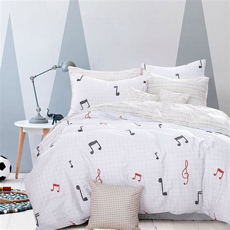 music note bed set white musical notes duvet cover bedding set bed sheet set