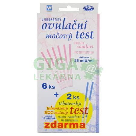 comfort test ovulačn 237 test comfort proužek 6ks 2ks tt zdarma