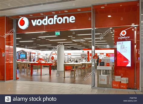 vodafone mobile phone store shopfront sign  interior