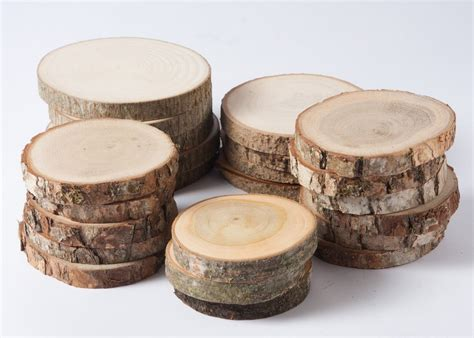 sale 20 assorted wood slices rustic wood slices for weddings