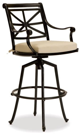 outdoor bar stools uk hedges outdoor swivel bar stool traditional outdoor