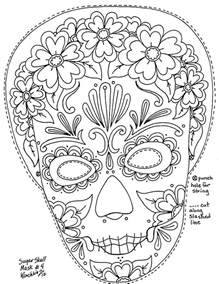 skulls to color free skull mask coloring pages