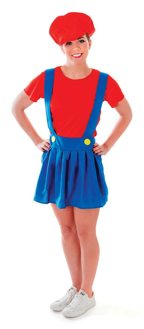90s fancy dress costumes ebay ladies plumber lady costume for 90s video game fancy dress